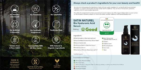 Sérum concentrado antiaarugas de ácido hialurónico Satin Naturel chollo en Amazon