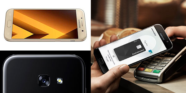 Smartphone Samsung Galaxy A5 (2017) negro y dorado en oferta