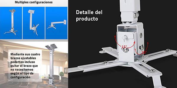 soporte metálico para proyector orientable y con gran relación calidad-precio