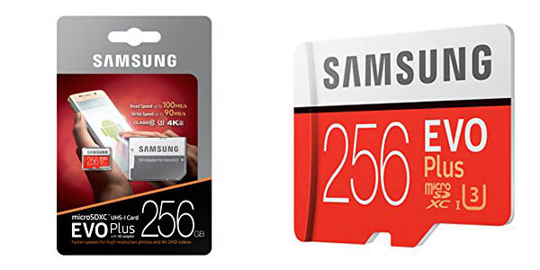 Tarjeta de memoria microSDXC Samsung EVO Plus de 256 GB