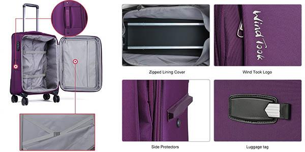 trolleys rígidos resistentes WindTook ideal viajes y escapadas a precio de chollo