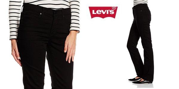 Chollo Pantalones Vaqueros Levi S 314 Straight Jeans Para Mujer Por Solo 47 50 Con Envio Gratis 47 De Descuento