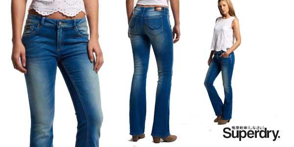 Pantalones vaqueros Superdry Zadie Kick Bjorn para mujer baratos en eBay España