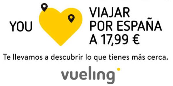 Vueling promoción vuelos por España febrero 2018