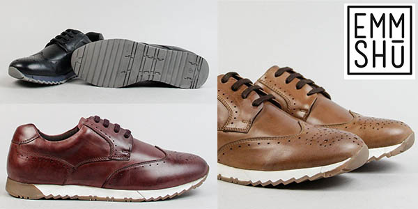 zapatos Emmshu EMS-577 con cordones para hombre baratos