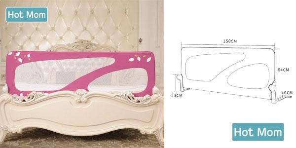 Barandilla de seguridad para niños Hot Mom para cama de 150 cm chollazo en Amazon
