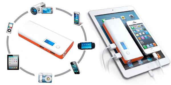 Batería portátil compacta de 20000 mAh con USB barata