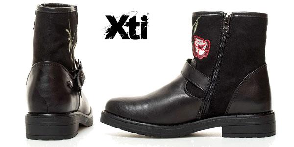 Botas Xti Debbie en color negro bordadas para mujer chollazo en eBay