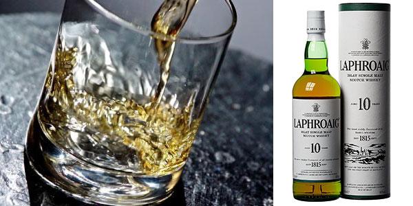 Botella de whisky escocés Laphroaig de 10 años (70 cl) barato