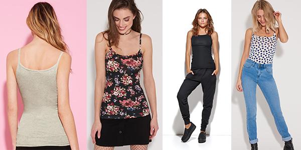 camisetas de tirantes y algodón estampadas para mujer ofertas en Tezenis