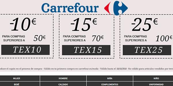 Carrefour online promoicón moda con grandes descuentos septiembre 2018