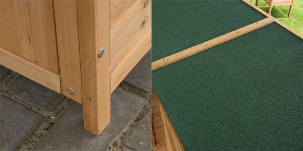 Caseta armario de herramientas de jardín 165x140x75 de madera maciza chollo en eBay España