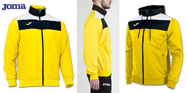 Chaqueta Joma Crew de microfibra de color amarillo para hombre y niño en oferta