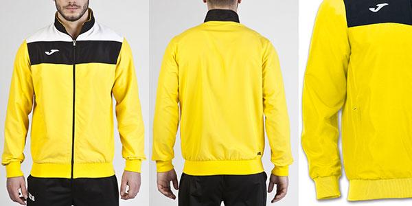 Chaqueta de microfibra Joma Crew amarilla para hombre y niño barata