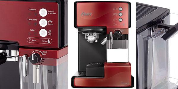 Chollo Cafetera Oster Prima Latte de color rojo con 15 bares de presión