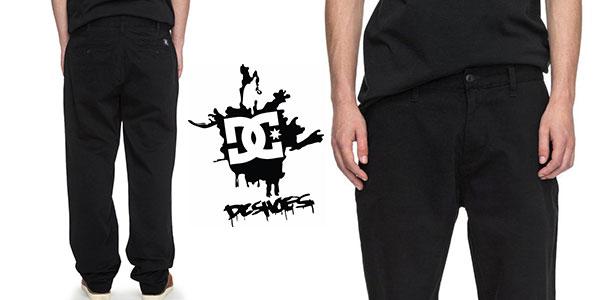 Chollo Pantalones chinos DC Shoes Worker Relaxed de color negro para hombre