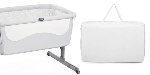 cuna Chicco Next to me primeros meses del bebé cómoda y con funda de transporte chollo