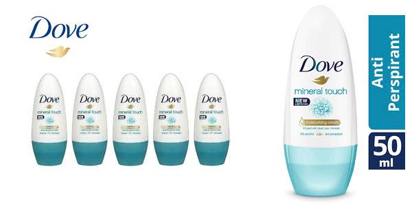 Pack de 6 Desodorantes Dove Mineral Touch Desodorante en Roll On 50 ml barato en Amazon