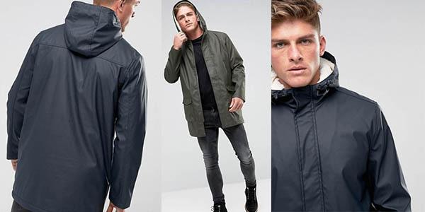 French Connection gabardina para hombre abrigo con capucha rebajada
