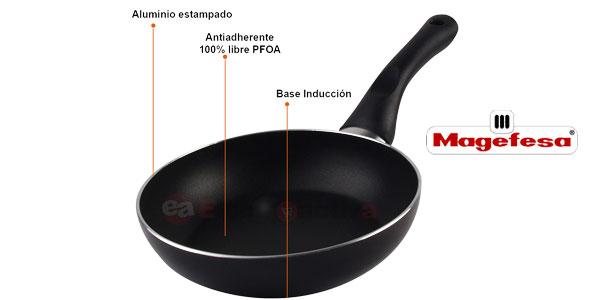 Juego de 3 sartenes Magefesa Vitrinor aptas para todo tipo de cocinas chollo en eBay