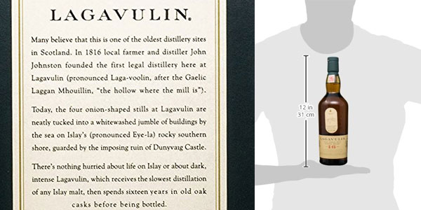 Lagavulin 16 años Whisky Escocés - 700 ml chollo en Amazon