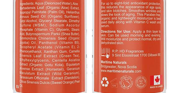 Loción Hidratante Maritime Naturals con vitamina C chollazo en Amazon