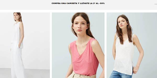 Mango Outlet camisetas de verano para mujer a precios brutales