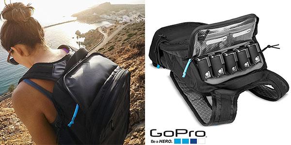 Mochila deportiva GoPro Seeker compatible con sistemas de hidratación y 5 cámaras de color negro en oferta