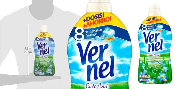 Pack Vernel Suavizante Concentrado cielo Azul 57 lavados chollo en Amazon