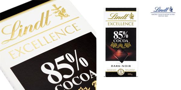 Pack 4 tabletas Chocolate negro Lindt Excellence 85% cacao chollo en Amazon