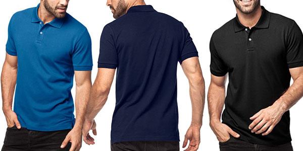 Polo Lapasa de manga corta en varios colores para hombre en oferta