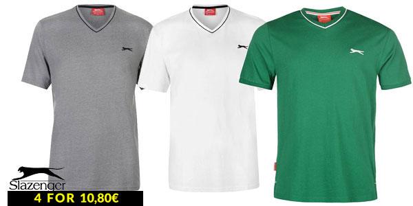 Comprar 4 camisetas baratas de algodón marca Slazenger en Sports-Direct