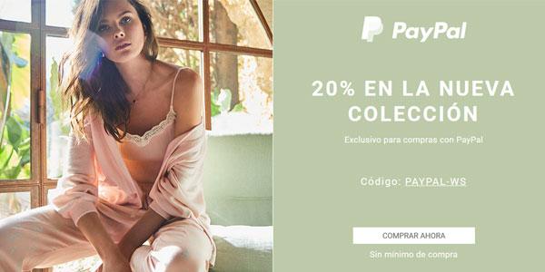 Cupón 20% en Women Secret para pagos con PayPal