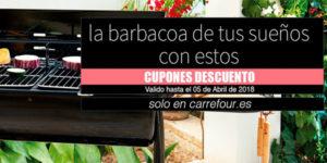 Promoción hasta 30% de descuento en barbacoas en Carrefour online