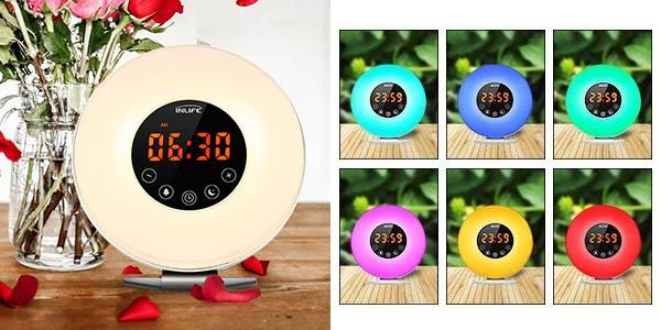 Despertador INLIFE con luz en varios colores