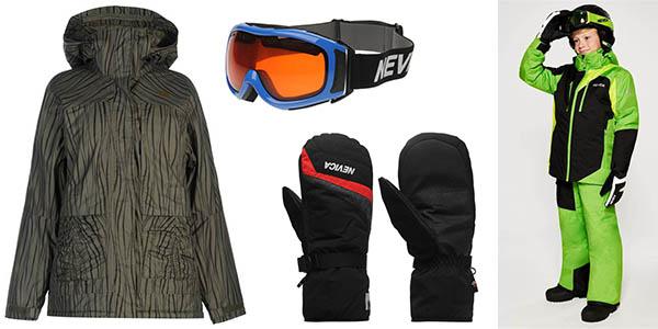 ropa de esquiar y complementos con grandes descuentos