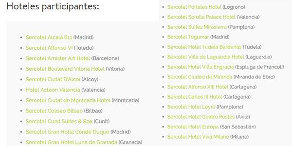 Sercotel habitaciones por 1€ en hoteles de España y Milán
