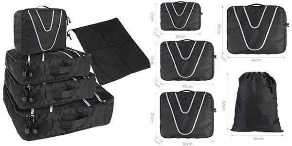 set de 4 organizadores para maletas Homfa barato
