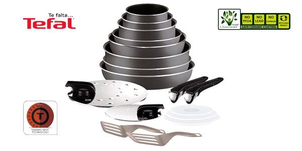 Set de 17 piezas Tefal Ingenio Essential con mango extraíble barato en Amazon