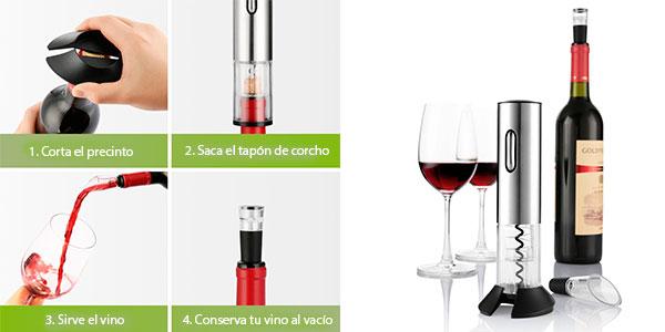 Set Descorchador de botellas de vino automático Zanmini en oferta