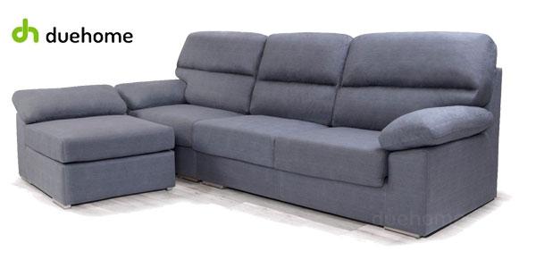 Sofá puf chaiselonge Califa de DueHome en tela aterciopelada gris marengo chollazo en eBay