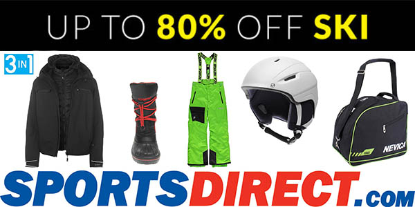 Sports Direct ofertas en ropa de esquí marzo 2018