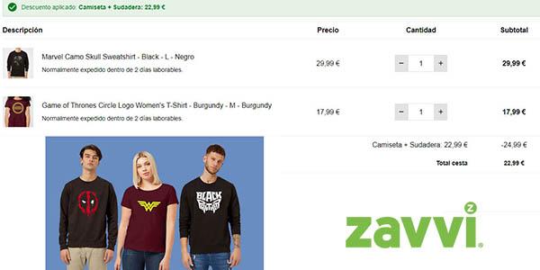 sudaderas y camisetas de diseño geek ofertas de Zavvi febrero 2020
