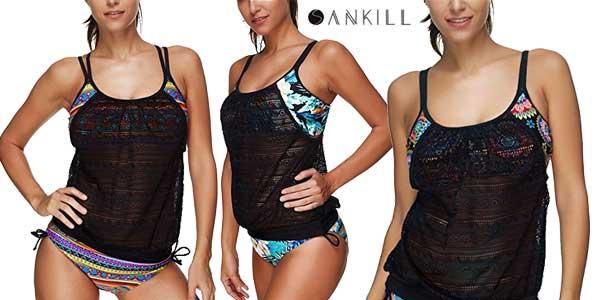 Tankinis Sankill de 2 piezas para mujer baratos en Amazon