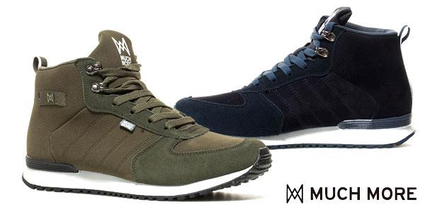 Zapatillas de piel combinada Much More Gaten para hombre chollo en eBay