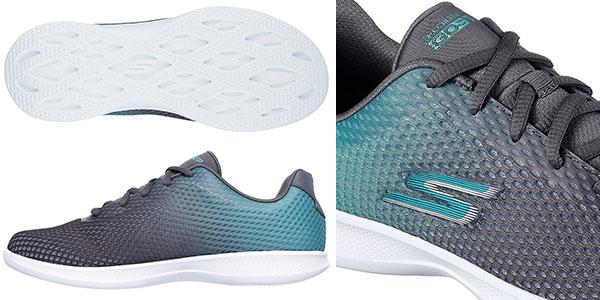 Zapatillas Skechers Go Step Lite-Interstellar de color verdoso para mujer en oferta