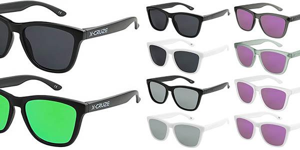 3 gafas de sol con lentes polarizadas en diferentes colores marca X-Cruze oferta
