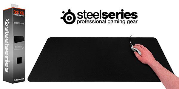Alfombrilla de ratón gaming SteelSeries QcK XXL (900 x 400 mm) compatible con ratón láser y óptico rebajada