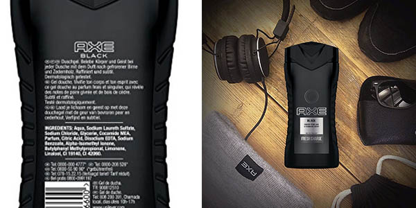 Axe Black gel de ducha con perfume intenso en oferta