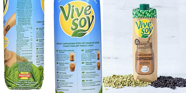 Bebida Vivesoy Cappuccino con soja en formato ahorro